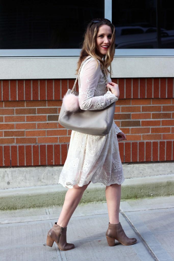 Cream Lace Chicwish Dress