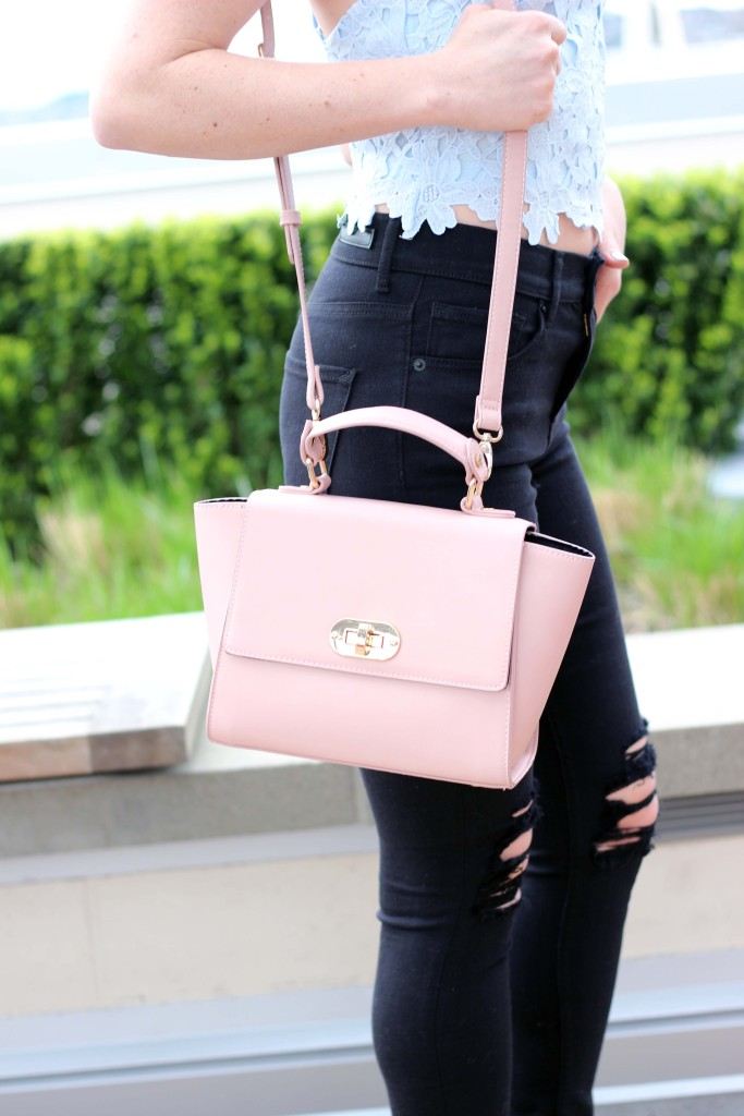Blush Pink Purse via Forever 21