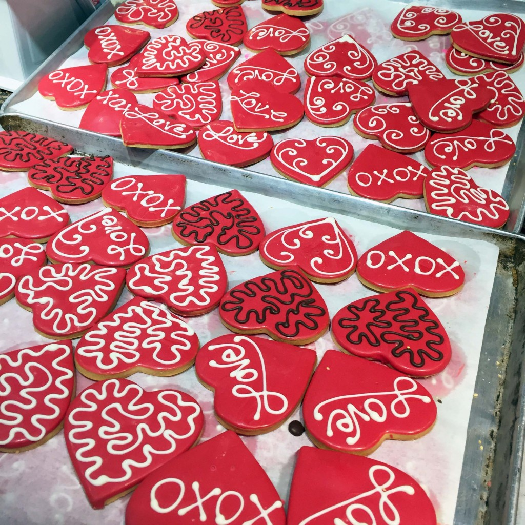 VDay Cookies at the Market
